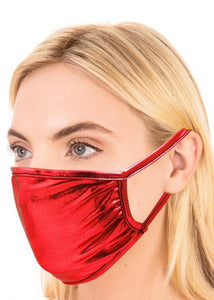 Metallic Mask - Red