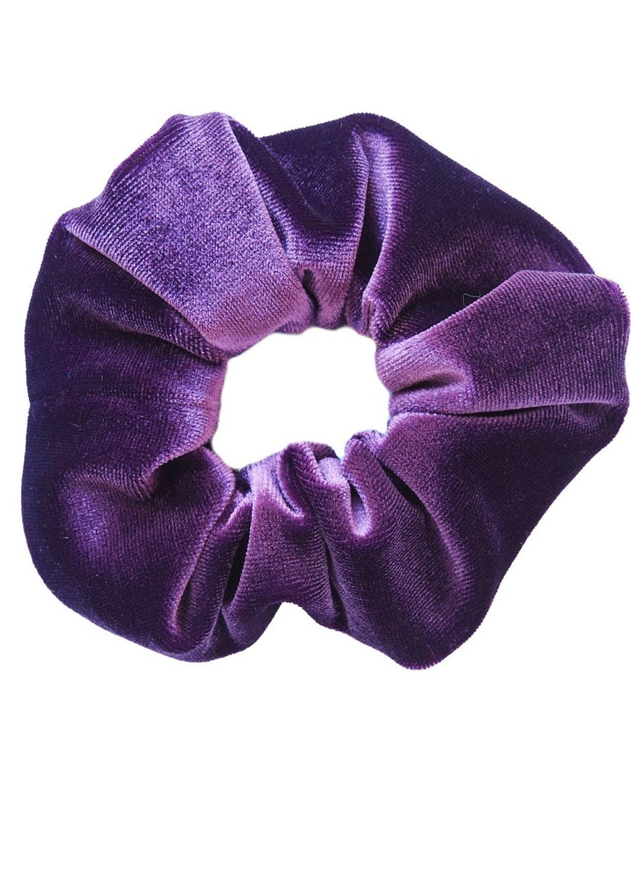 Velvet Scrunchie - Purple