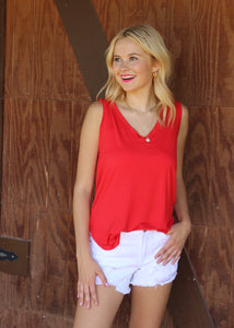 Letting Loose Tank Top - Red