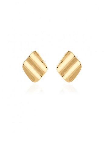 Amara Gold Ripple Earrings