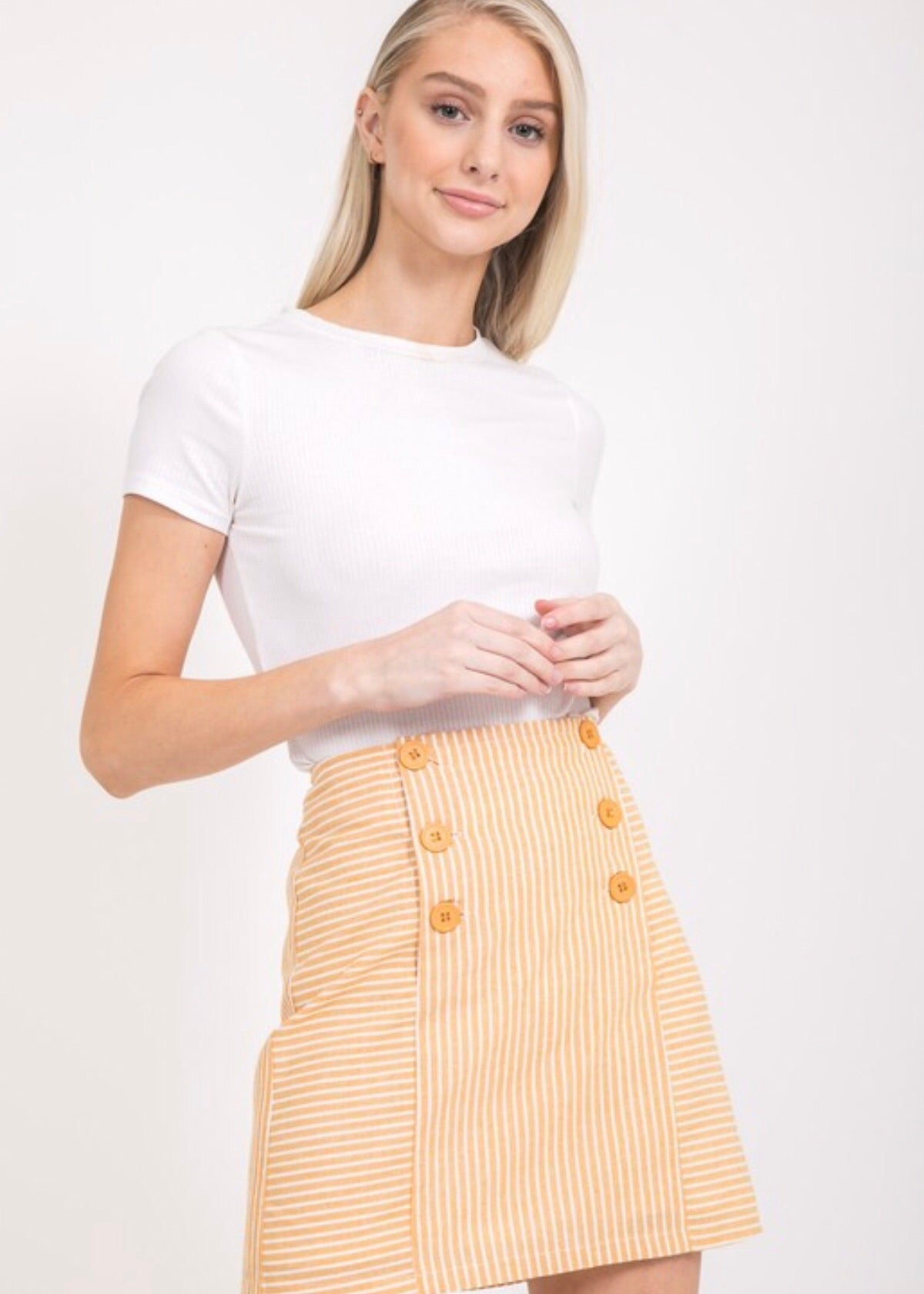 Lemon Twist Mini Skirt