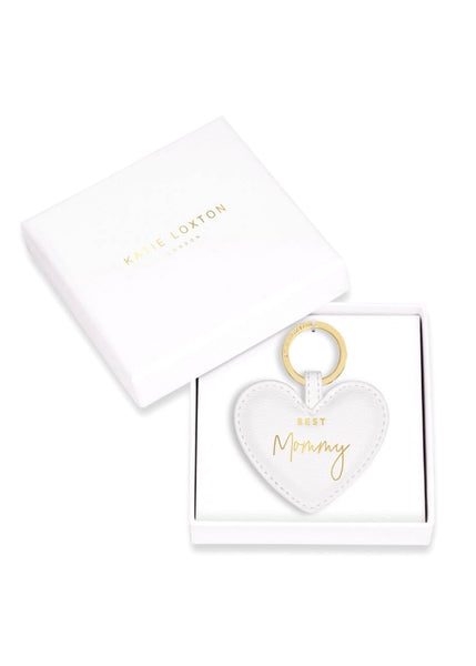 Beautifully Boxed Sentiment Heart Keychain/ Best Mommy