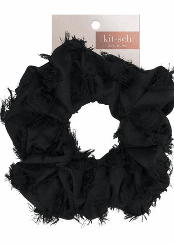 Brunch Scrunchie- Frayed Black