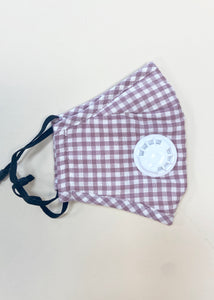 Unisex Mask with Filter - Gingham Dusty Pink *Best Seller