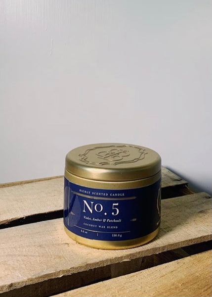 Britten & Bailey's Candles - No. 5 - Violet, Amber & Patchouli