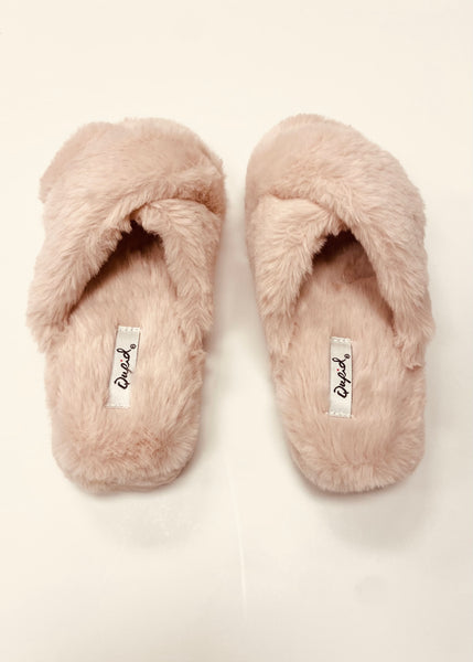 Cross Band Slippers - Nude