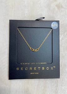 Triple Link Necklace- Gold