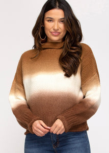 Cozy Moment Ombre Sweater