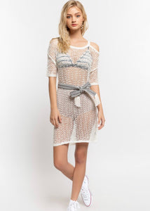 Beach Love Mesh Cover-up