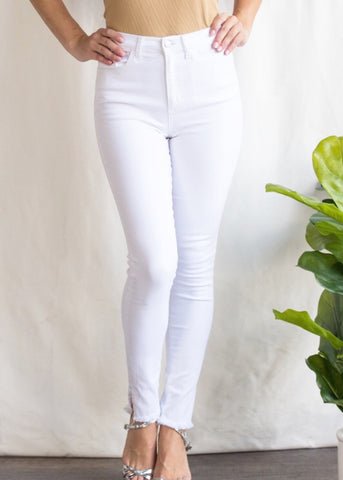High Hopes High Rise White Denim