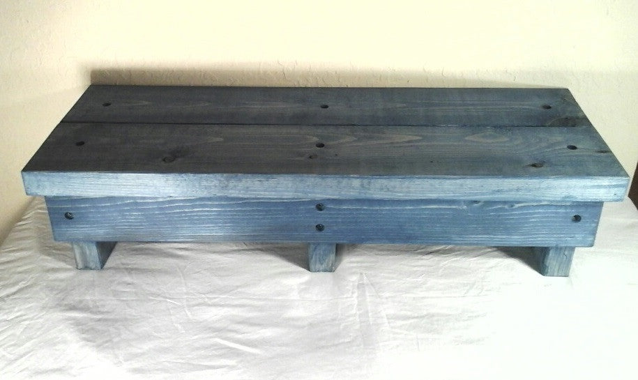 Extra Long Step Stool Handmade Wooden Rustic Island