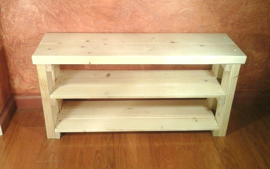 three compartments parawood storage unfinished with bench geneslove solid great me