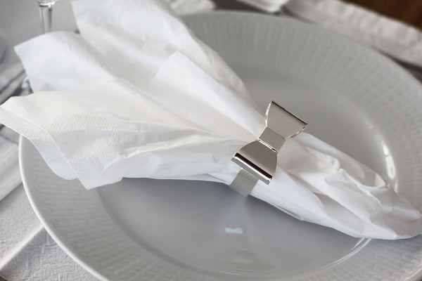 Bow Napkin Rings 4-pack