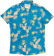 Men's High Water Shirt - Bird of Paradise Baja Blue - California Cowboy