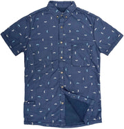 Men's High Water Shirt - Sun Dog Farallon Navy - California Cowboy