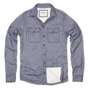 Shop Blue Steel Heather High Sierra Flannel Shirt For Men - California Cowboy