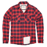 Shop For Men's High Sierra Flannel Shirt - Fireside Plaid - California Cowboy