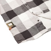 Men's High Sierra Flannel Shirt With Hidden Bottle Opener - Double Diamond Check - California Cowboy