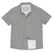 Men's High Water Shirt - Cozumel Geo, White Russian