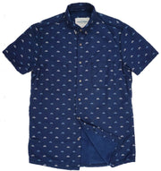 Shop For High Water Shirt For Men - Sun Dog Dobby Farallon Navy - California Cowboy