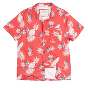 Shop For High Water Hawaiian Shirt For Men - Bird of Paradise Sunset Red - California Cowboy