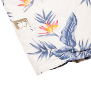 Men's High Water Hawaiian Shirt With a Bottle Opener - Bird of Paradise White Sand - California Cowboy