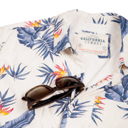 Men's High Water Shirt -  Bird of Paradise, White Sand