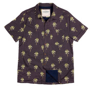 Shop for Men's High Water Hawaiian Shirt - Indio Palm Washed Navy - California Cowboy