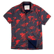 Shop For High Water Hawaiian Shirt For Men - Vintage Floral Washed Navy - California Cowboy