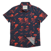 Shop For Tropic High Water Shirt For Men - Vintage Floral Farallon Navy - California Cowboy