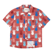 Men's Tropic High Water Shirt - Piña Paradise, Red Rum