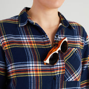 Women's  High Sierra Shirt - Sunglasses Loop - Daffy Plaid - California Cowboy