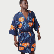 Men's El Garibaldi Robe - Model - Garibaldi Fish Print -  Loose Fit - California Cowboy