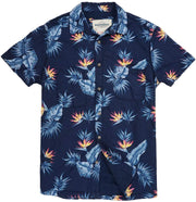 Shop for Men's High Water Hawaiian Shirt - Bird of Paradise Farallon Navy - California Cowboy
