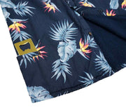 High Water Hawaiian Shirt For Men With Bottle Opener Pocket - Bird of Paradise Farallon Navy - California Cowboy