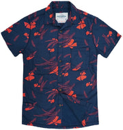 Shop For Men's High Water Hawaiian Vintage Floral Farallon Navy Shirt - California Cowboy