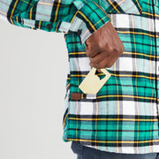 High Sierra Flannel Shirt for Men - Bottle Opener - Campfire Check - California Cowboy