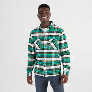 High Sierra Flannel Shirt for Men - Green Rush Tartan Model - California Cowboy