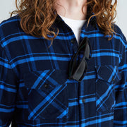 Men's High Sierra Shirt - Sunglasses Loop - Solstice Plaid - California Cowboy