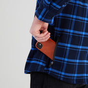 High Sierra Flannel Shirt With Phone Pocket - Solstice Plaid - California Cowboy