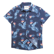 Shop Tropic High Water Shirt For Men - Bird of Paradise Farallon Navy- California Cowboy