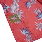 Men's Tropic High Water Hawaiian Shirt With A Hidden Bottle Opener Pocket - Bird of Paradise Sunset Red - California Cowboy