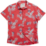 Men's Tropic High Water Shirt - Bird of Paradise Sunset Red - California Cowboy