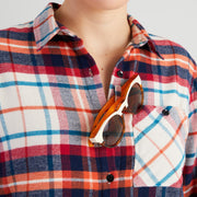 Women's High Sierra Flannel Shirt With Sunglass Loop - Sonoma Plaid - California Cowboy