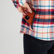 Women's High Sierra Shirt With Hidden Phone Pocket - Sonoma Plaid - California Cowboy