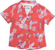 Women's High Water Shirt - Bird of Paradise Sunset Red - California Cowboy
