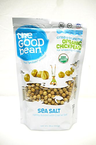The Good Bean Sea Salt Flavor Crispy Crunchy Chickpeas, 18 Ounce