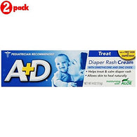 A+D Zinc Oxide Diaper Rash Cream with Aloe 4 oz (113 g)(pack of 2)