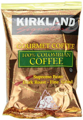 Signature 100% Colombian Coffee, Supremo Bean Dark Roast Fine Grind, 42/1.75 oz Pouches