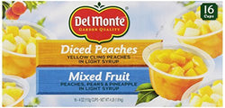 Del Monte Mixed Fruit/Peaches Snack Cup, 4 Pound